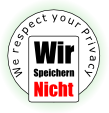 Wir Speichern Nicht